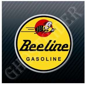Beeline Gasoline Gas Fuel Pump Station Vintage Logo