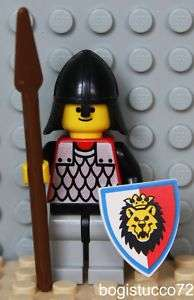 Lego Lion Knight ★ Castle Guard Red Shield Spear Weapon