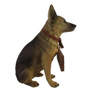 German Shepherd Dog Welcome / Go Away Statue