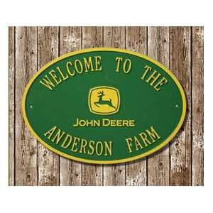 Personalized John Deere Sign   Circle:  Kitchen & Dining
