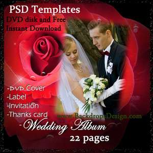 PSD TEMPLATES WEDDING ALBUM BACKDROPS BACKGROUNDS FANTASY FLOWERS