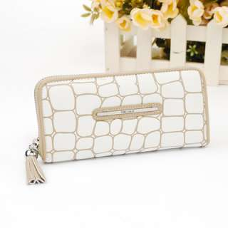 new fashion quality women lady zip wallet purse 4 color