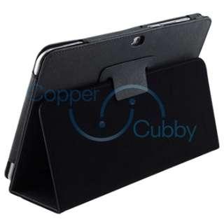 Tab 8.9 Tablet Premium Black Flip Leather Hard Case Pouch