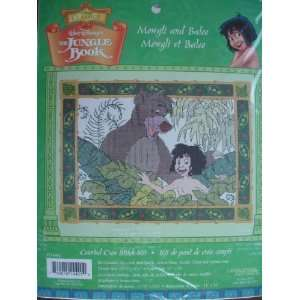 Disneys The Jungle Book Mowgli and Baloo Counted Cross Stitch Kit