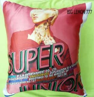 EunHyuk In SUPER JUNIOR Cushion Pillow Cover /Pillowcase Satin Q2