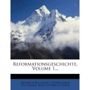 Bullinger, Johann Jakob Hottinger, Hans Heinrich Vögeli: Books