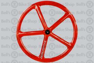 Aerospoke Track Front Wheel RED Non Machined Fixed Gear