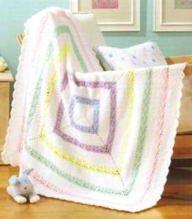 Aran Baby Afghans Crochet Patterns Square Cables Book