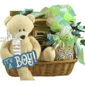 For The Proud Parents of a Precious Prince   New Baby Boy Gift Basket