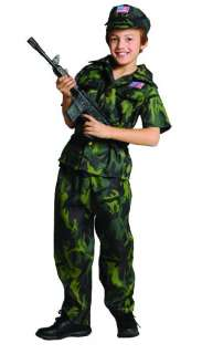 CHILDS ARMY COMMANDO MILITARY SOLDIER HALLOWEEN COSTUME