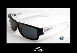 Brand New ARNETTE WAGER Sunglasses   Black Clear Stem