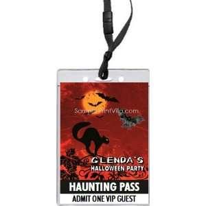 Black Cat Halloween VIP Pass Invitation Health & Personal