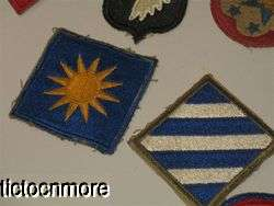 ARMY AIR FORCES CAVALRY AIRBORNE INFANTRY UNIFORM PATCHES LARGE LOT