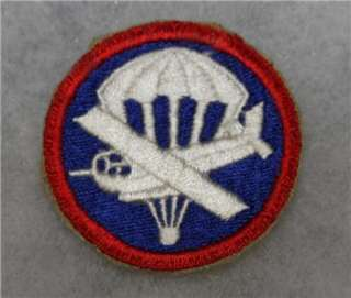 100% ORIGINAL WW2 US GLIDER AIRBORNE PARATROOPER PATCH NO GLOW