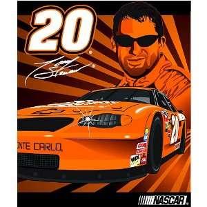 Tony Stewart Royal Plush Raschel NASCAR Blanket (Full