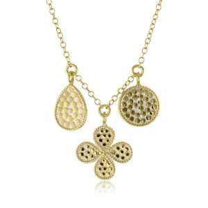 Anna Beck Designs Gili 18k Gold Plated Flower Charm Necklace