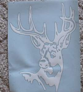 Buck Deer Head hunting vinyl window sticker/decal/graphics