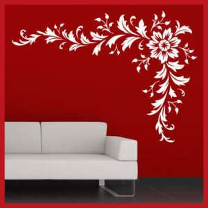 Stylish Flower Vine Floral WALL STICKER DECAL