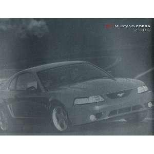 2000 Ford Mustang SVT Cobra Original Sales Brochure