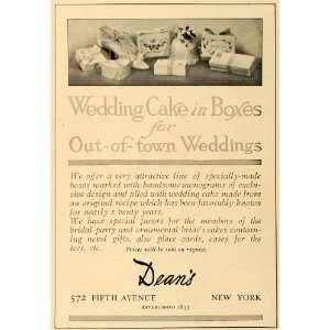 1907 Ad Charles Augustus Baker Deans Wedding Cakes Box