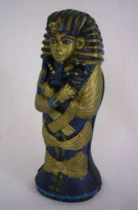 Egyptian King Tut Sarcophagus Figure 6 Statue Replica