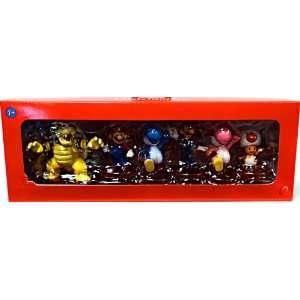 Super Mario Mini Figure 6Pack Collector Set Bowser, Mario
