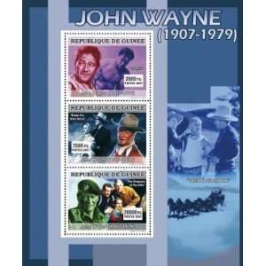 : John Wayne Films 3 Mint Stamp Sheet Guinee GU0761: Everything Else