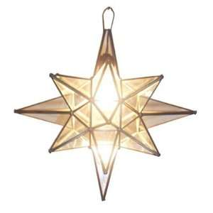 Moravian Star 19 Clear Glass Pendant Lamp Light