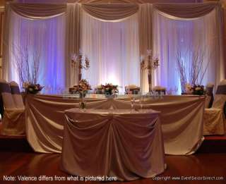 Wedding Backdrop Kit w/Pipe, Drape, Valence: 3 PANEL 8 14ft TALL