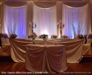 Wedding Backdrop Kit w/Pipe, Drape, Valence: 3 PANEL 8 14ft TALL