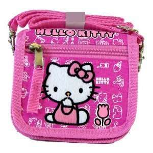 Pink Hello Kitty Mini Wallet with Strap