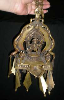 Old Tibet Tibetan Bronze Elephant Headed God Ganesh Buddha Oil