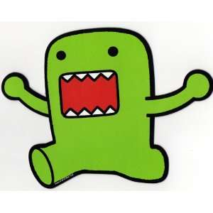 Domo Japanese Cartoon Car Magnet   Green JUMPING Hands Up