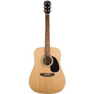 by Fender Dreadnaught Acoustic Guitar   Natural: Musical Instruments