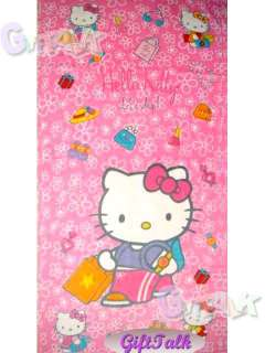 NEW Sanrio Hello Kitty Bath Beach Cotton Towel #A 58x30
