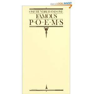 101 Famous Poems with a Prose Supplement Roy J Cook 1929 compilation