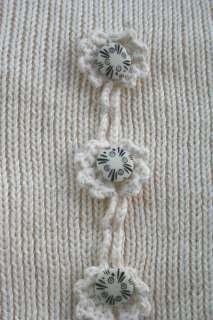 HAND KNIT TANK Crop Crochet Sweater Scallop Boho Flyaway Floral Shirt