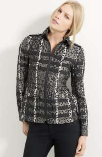 NWT Authentic Burberry London Animal Check Print Quilted Jacket XS $