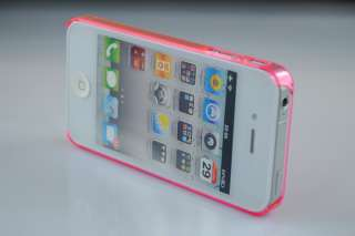 Ultra Thin Clear Crystal Snap On New Hard Case Cover for iPhone 4 G 4S