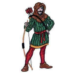 Medieval Epic Archer Robin Hood Knight Iron on Patch