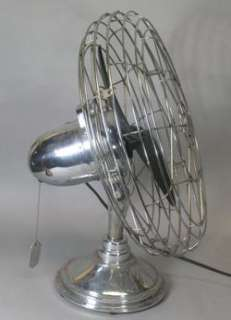 20 Freshnd Air Art Deco Chrome Bullet Fan c. 1940 Model 17 RC