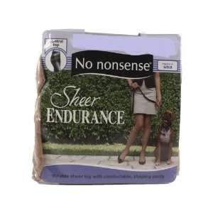 No Nonsense Sheer Endurance Pantyhose, Control Top, Midnight Black