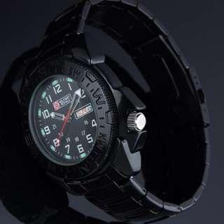 Army Military Black Steel Sport Quartz Men Mens Wrist Watch Man Sports