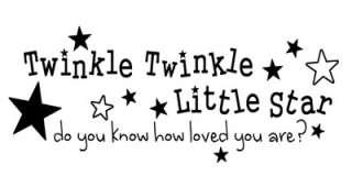 TWINKLE TWINKLE LITTLE STAR ~ Nursery Wall Sticker Vinyl Decal Quote