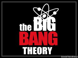 The Big Bang Theory TV Show logo Decal Sticker (2x)
