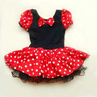 Halloween Disney Minnie Mouse Girls Kids Pary Costume Ballet Tutu
