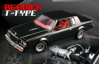 GMP G180024 118 1986 BUICK REGAL T TYPE BLACK 3.8L TURBO V6 DIECAST