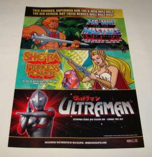 2006 dvd ad page~HE MAN Masters Of The Universe, SHE RA