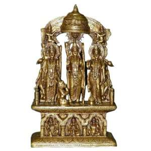 Gods Ram Laxman Sita Brass Sculpture Temple Murti 18 Home & Kitchen