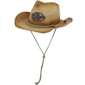 Alabama Crimson Tide Tan Crystal Cash Raffia Cowgirl Hat